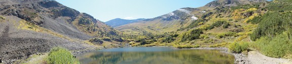 Hiking the North Pole Basin with panoramic views of Treasury Mountain. -photo by DawnReeder