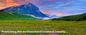 Protecting the environment's natural beauty